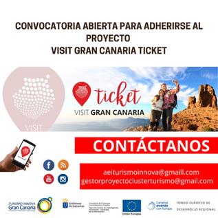 Convocatoria abierta para adherirse al proyecto Visit Gran Canaria Ticket