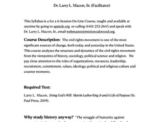Civil Rights Movement II Syllabus - Click Here
