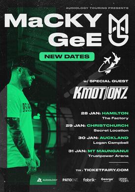 MACKY GEE, NZ TOUR
