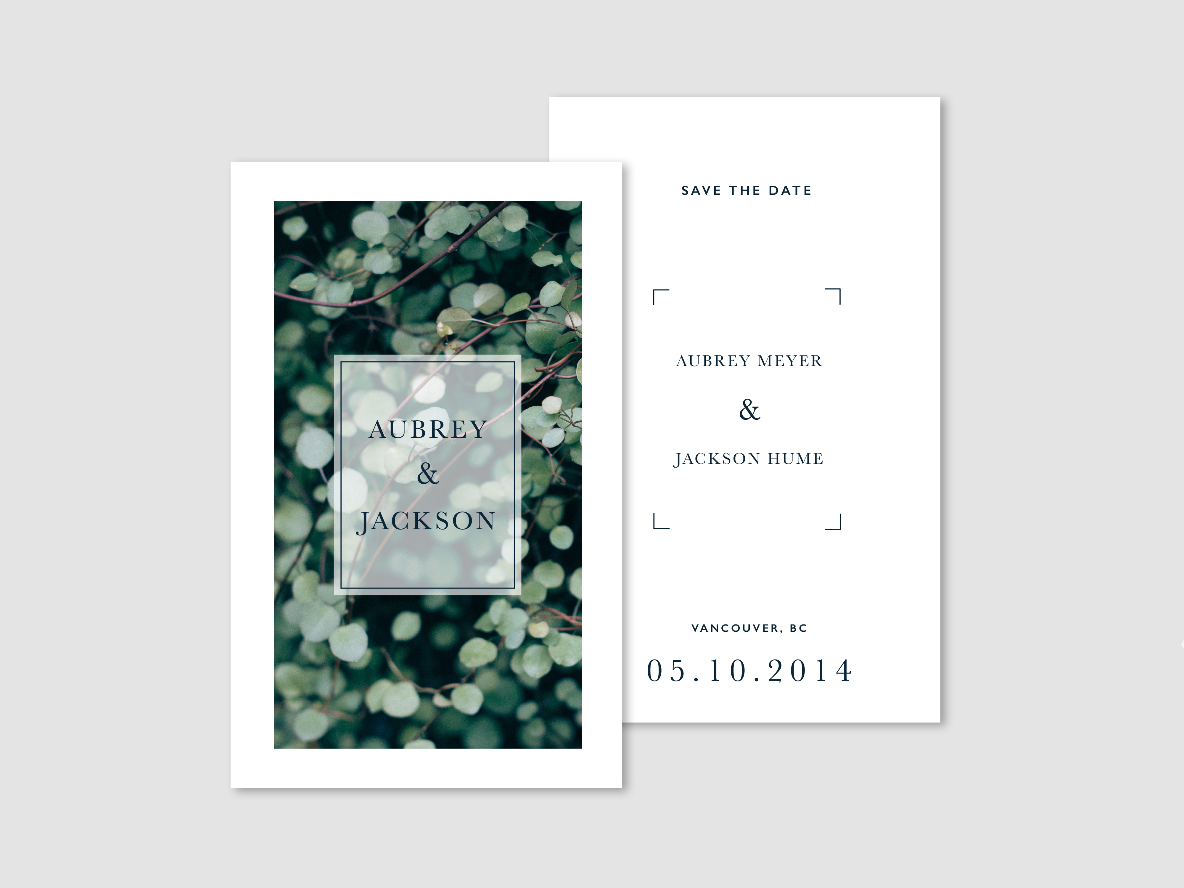 Monokrom | Botanical Wedding Invites