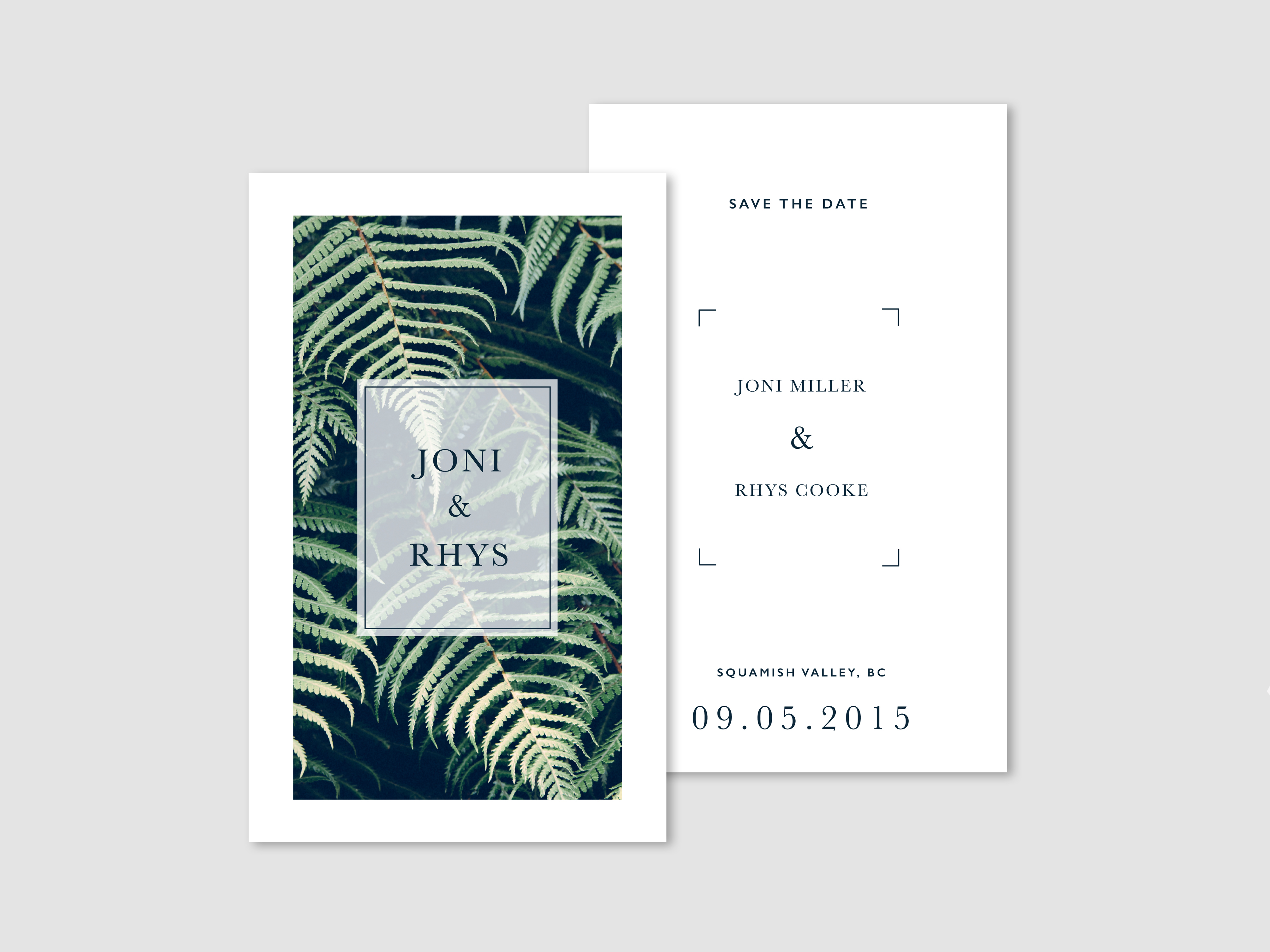 Monokrom | Fern Wedding Invites