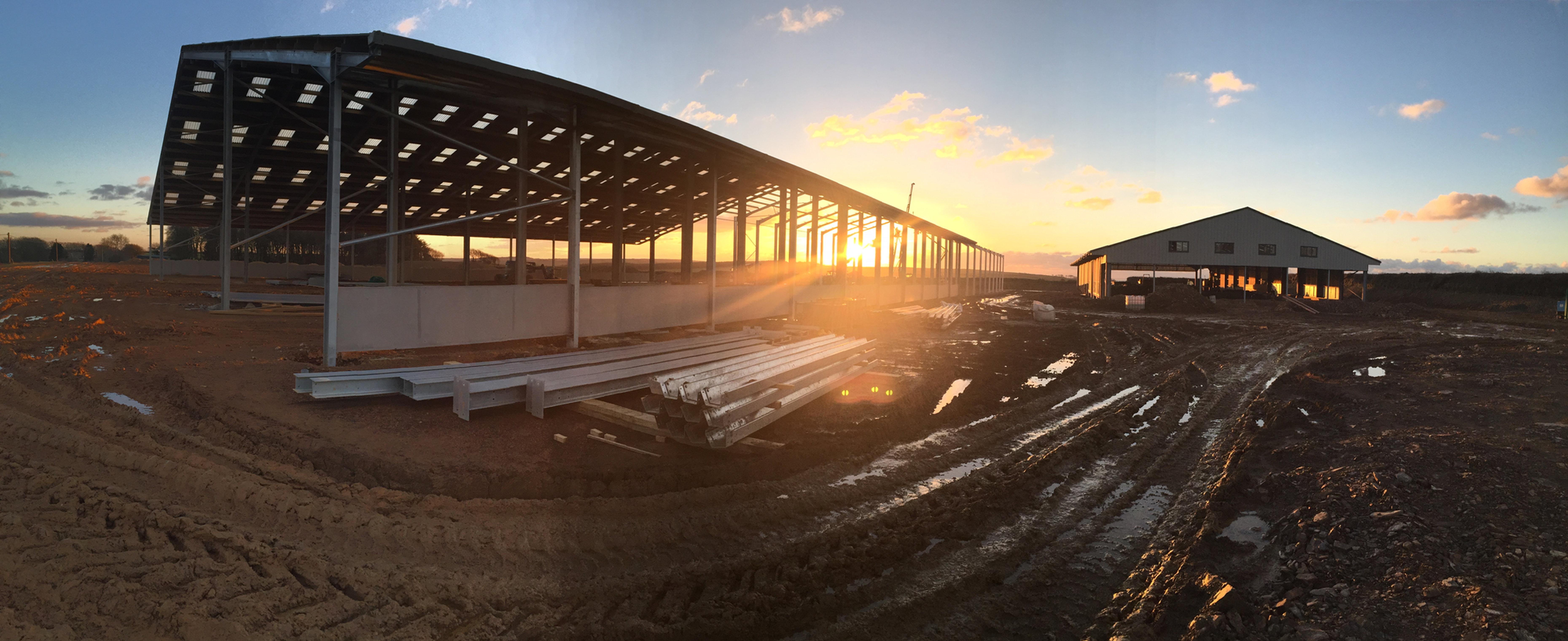 New dairy farm under construction