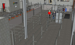 3D drawing of handling system behind mil
