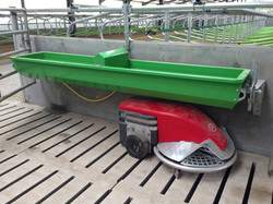 Tip over water troughs