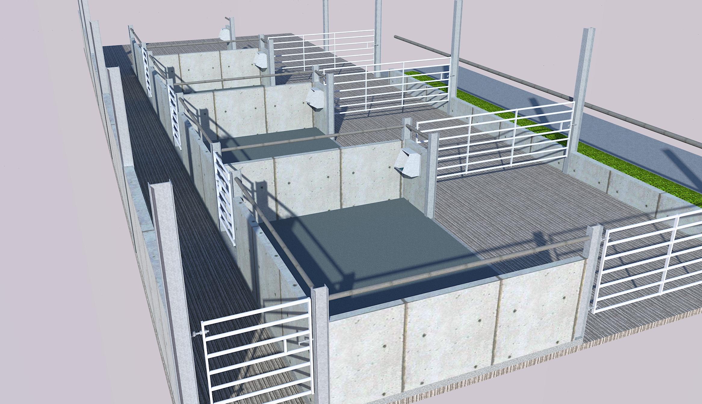 Calving building - 3D render