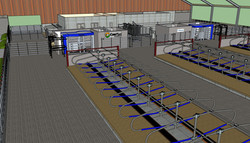DeLaval sample layout - 3D drawing