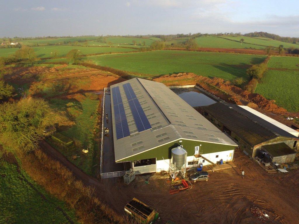 Aerial drone image - Regilbury Farm