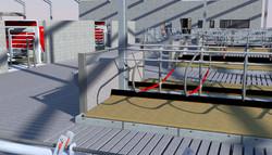 Robotic Dairy Unit - 3D drawing render