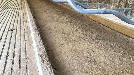 Sand kerbs installed
