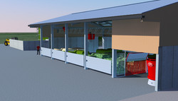 Vector feed kitchen - 3D drawing render
