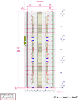 Cubicle building floor plan