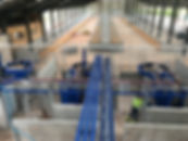 Grey - view over robots - during constru
