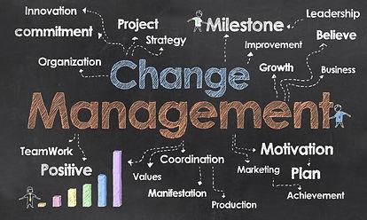 Change management chalkboard