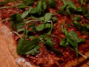 Pizza met pompoenbodem