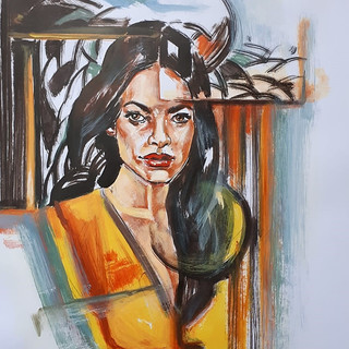 Essence Collection Título: moviment woman Técnica mista de desenho sobre papel.  Ano: 2020 Medida: Papel A3