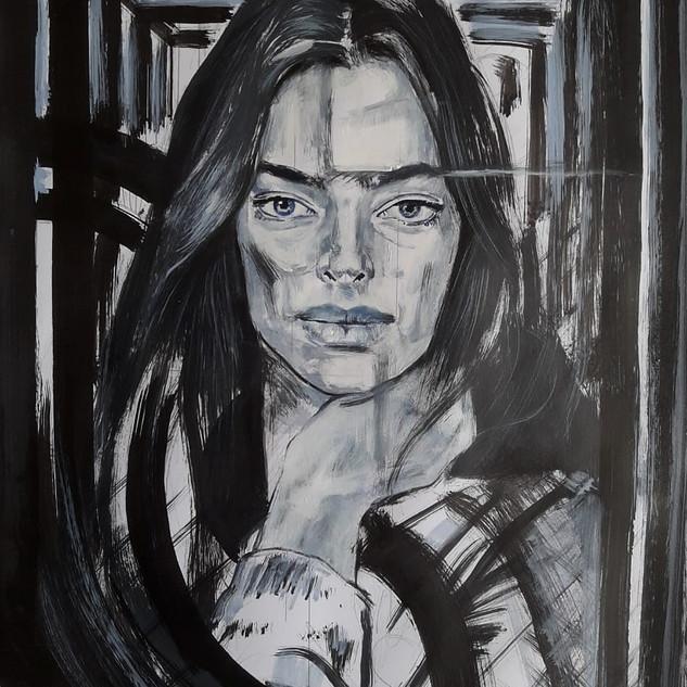 Essence Collection Título: Woman in black paint Técnica mista de desenho sobre papel.  Ano: 2020 Medida: Papel A3