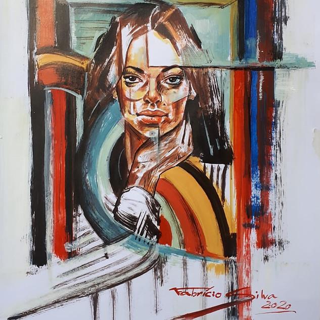 Essence Collection Título: Minimalist woman Técnica mista de desenho sobre papel.  Ano: 2020 Medida: Papel A3