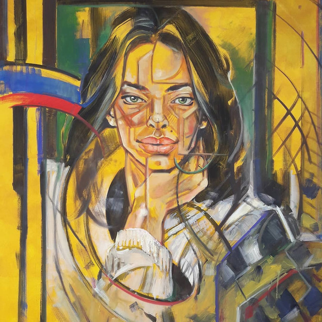 Essence Collection Título: Faces da beleza Técnica: óleo sobre tela.  Ano: 2020 Medida: 1.39 x 1.06 cm