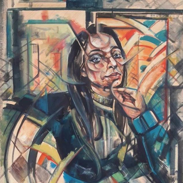 Essence Collection Título: Faces da beleza Tecnica: óleo sobre tela Medida: 1.24 x 0.80 cm Ano: 2020