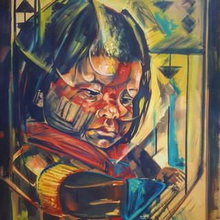 Essence Collection Título: Menimo índio Tecnica: óleo sobre tela Medida: 1.15 x 0.97 cm Ano: 2020