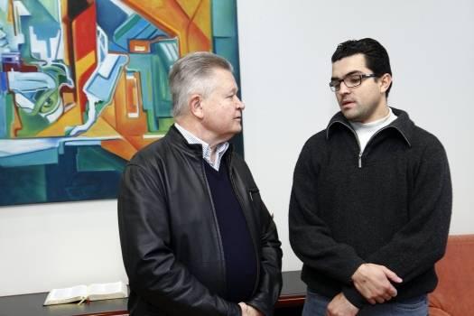 Foto com o prefeito de Joinville SC