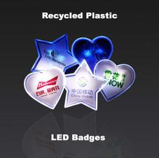 LED rPET Badges