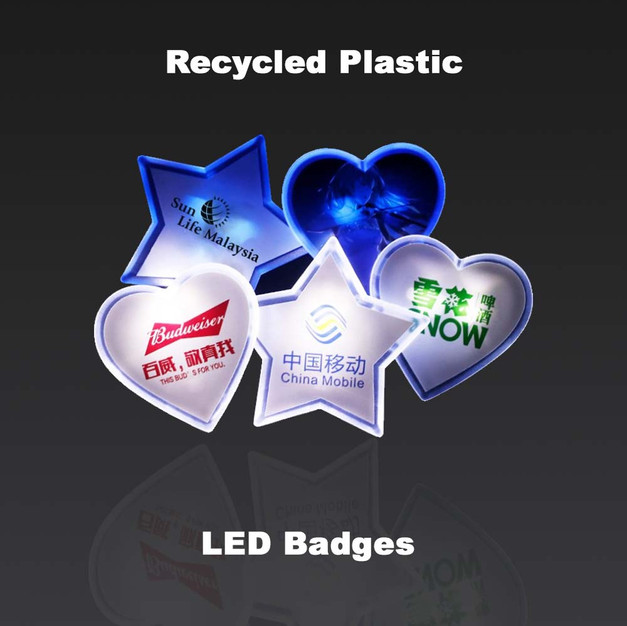 LED rPET Badges
