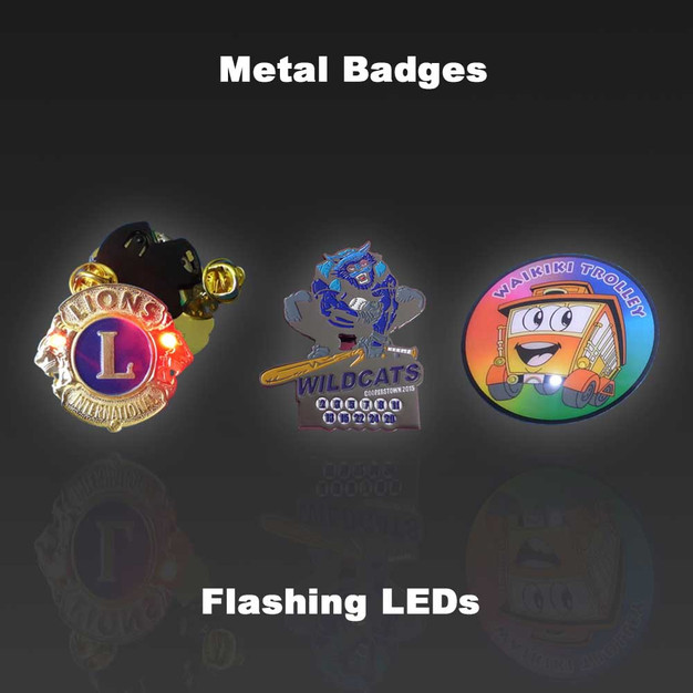 Metal LED Badges