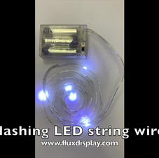 Flashing LED String Wire