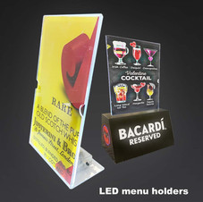 LED Menu Holders