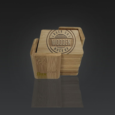 Wooden Coasters and Holder