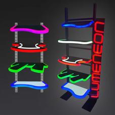 Lumeneon LED shelves
