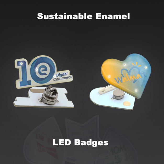 Enamel LED Badges