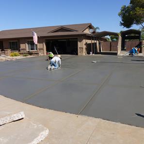 Fine finishing large driveway