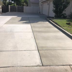 Widening and repair of driveway
