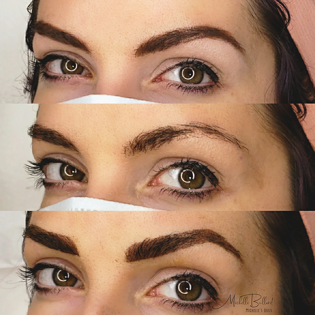 Combo Brow in dark brown and bold brown