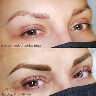 6 week touchup and lashlift and tint