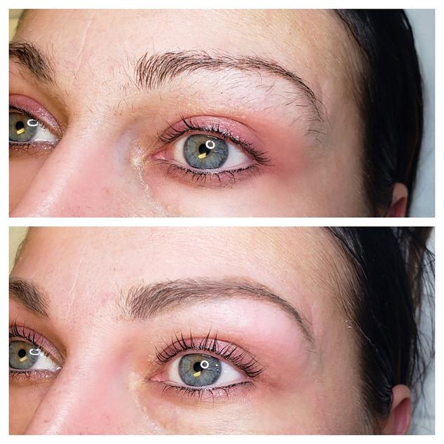 Lash Lift and Eyebrow wax