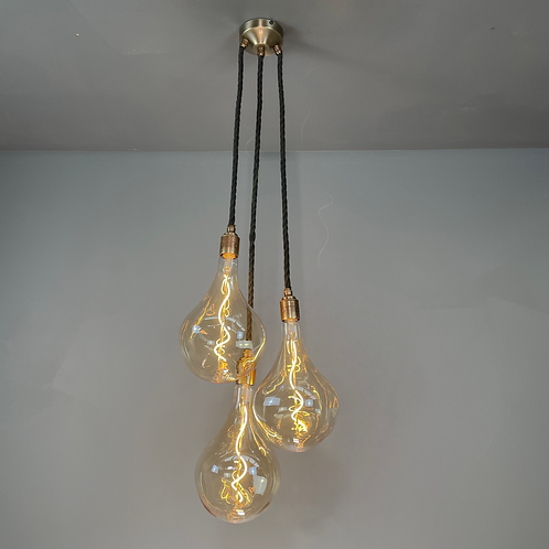 3 Drop Pendant with giant irregular teardrop bulbs
