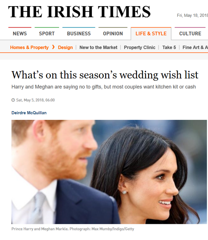 What's on this season's wedding wish list?  Copper Fish Studio!