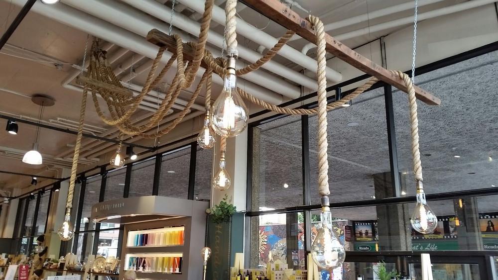 Light installation for Kilkenny Shop