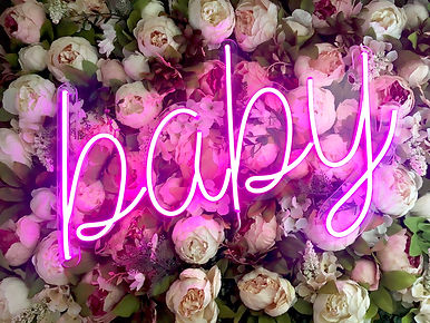 baby neon sign rental dallas texas