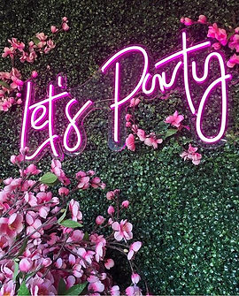lets party neon sign rental