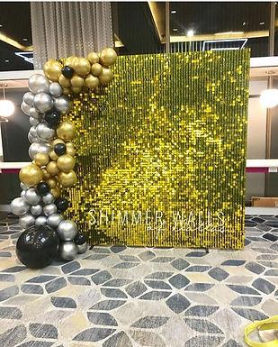 gold shummer wall