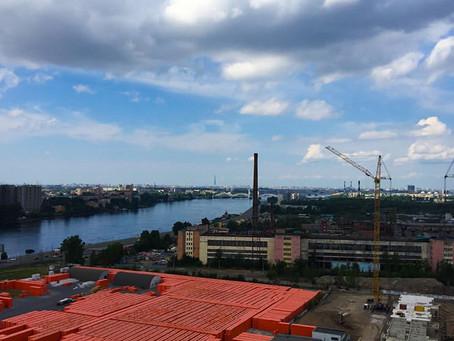 Новый жилой комплекс на Октябрьской набережной