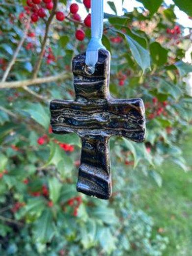 Ceramic Cross Ornament