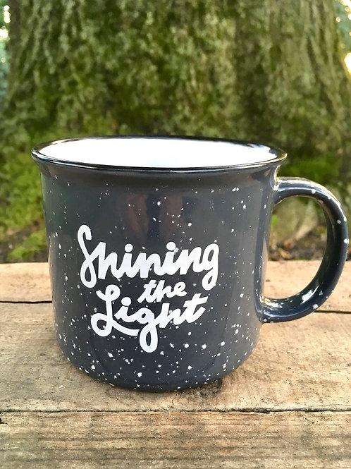 """""""Shining the Light"""" Camp Style Mug"""