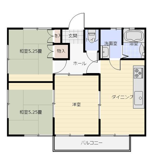 間取り_ファミネス浅江_102・202号室&101・201号室.