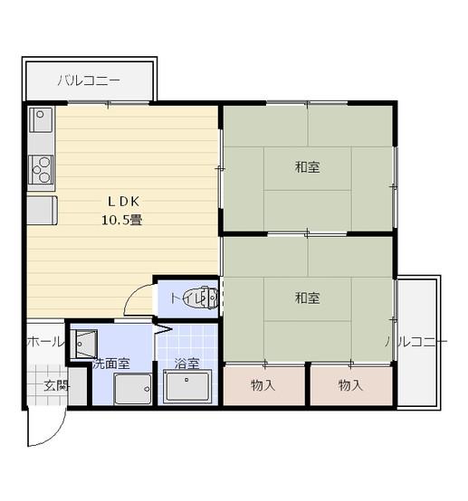 間取り_グランドハイツ_103・203号室&101・201号室.