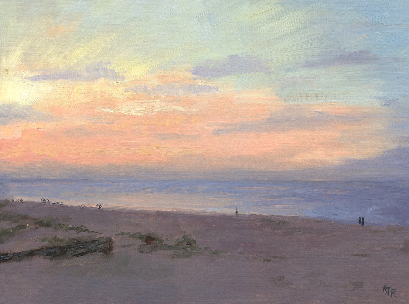 RichardsKim_Sunset Over the Ocean_oil